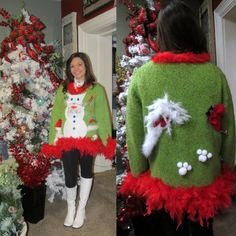 22 Of The Ugliest (aka Best) Sweaters To Wear To Your Next Christmas Party Light Up Christmas Sweater, Ugly Christmas Sweater Women, Christmas Sweaters, Ugly Sweater Contest, Ugly Sweater Party, Cool Sweaters, Christmas Cats, Sweater Dresses, Christmas Decorations