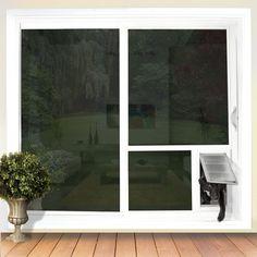 Pet Door Guys can put a pet door directly into your sliding glass door! Replace the glass to get dog doors for glass doors.
