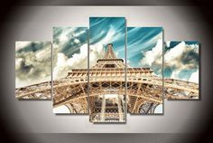 Style Your Home Today With This Amazing 5 Pieces Multi Panel Modern Home Decor Framed Eiffel Tower Wall Canvas Art For $99.98  Discover more canvas selection here http://www.octotreasures.com  If you want to create a customized canvas by printing your own pictures or photos, please contact us.
