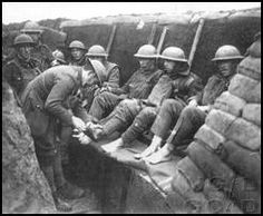 Many WWI soldiers suffered from this awful disease called trenchfoot. This was caused from staying in the wet and disgusting trenches and not being able to clean their feet.