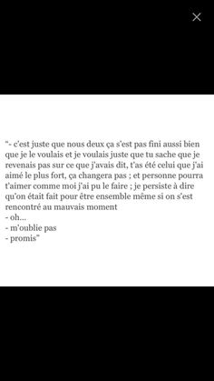 je voulais pas que sa se finisse comme sa Axel. Text Quotes, Love Quotes, Inspirational Quotes, Cute Sentences, Perfect Word, French Quotes, Life Words, Quote Board, Bad Mood
