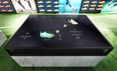 nike-digital-retail-experience - products on multitouch screens