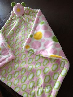 Sewing: Baby Blanket/Lovey - soft & simple!