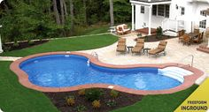 Semi inground pool landscaping ideas swimming pool decks for Pool design and engineering