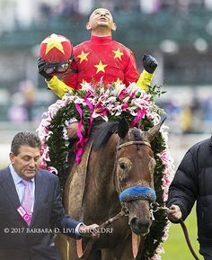 ABEL TASMAN (by Quality Road), with Mike Smith up, after their surprise ($20.40) win in the Kentucky Oaks today at @ChurchillDowns . Race Horses, Horse Racing, Derby 2017, Abel Tasman, Mike Smith, Horse Names, Sport Of Kings, Born To Run
