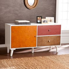 Southern Enterprises Perry Anywhere Storage Cabinet/Console, Multi Wood    Walmart.com