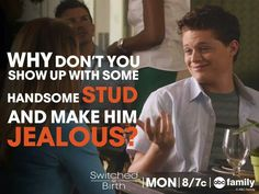 Switched At Birth - Daphine and Emmitt Emmett Bledsoe, Switched At Birth Quotes, Sean Berdy, Step Up Revolution, Chad Michael Murray, Abc Family, Tv Land, Tv Quotes, Editing Pictures