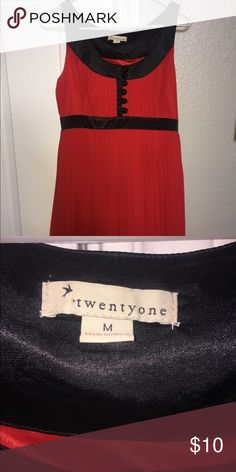 RED ♥️ Forever 21 dress - size medium RED ♥️ Forever 21 dress - size medium. Like brand new!!! Forever 21 Dresses Mini