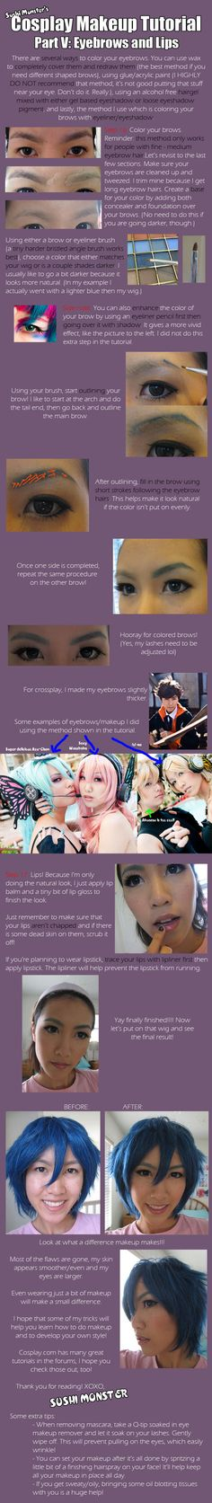 Cos Makeup Tutorial Part V by the-sushi-monster.deviantart.com on @deviantART