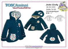 Nähanleitungen Kind - 4K6 Ebook Kinderjacke Cindy Gr. 74-122 - ein Designerstück von TOSCAminni-Schnittmanufaktur bei DaWanda