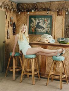 Elle Fanning photographed by Venetia Scott in Self Service