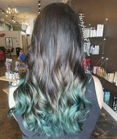 """49 Likes, 4 Comments - Hannah Hansen (@hairbyhannahpeterson) on Instagram: """"Dark brown with green tips Done with @redken #color and @joico #intensity. 👽👽👽"""""""