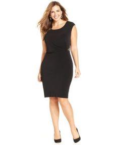 NY Collection Plus Size Sleeveless B-Slim Dress