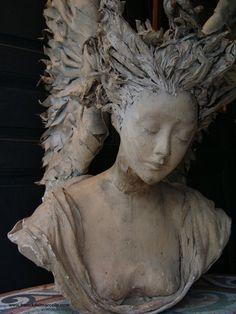 Beautiful clay bust