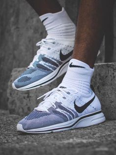 Nike Flyknit Trainer - White/Black - 2017 (by soggiu23) #ColumbiaRainJacketWomensxl #RainJacketWomenswithHood Gray Nike Shoes, Nike Free Shoes, Nike Shoes For Sale, Running Shoes Nike, Nike Shoes Outlet, Shoe Outlet, Nike Shoes Cheap, Slip On Sneakers, Shoes Sneakers