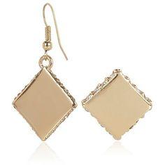River Island Gold tone long bar earrings ($16) ❤ liked on ...