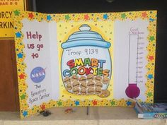 girl scout cookie goal chart | Goal chart for booth