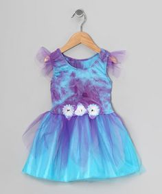 Take a look at this Purple & Turquoise Tie-Dye Dress - Toddler & Girls on zulily today!