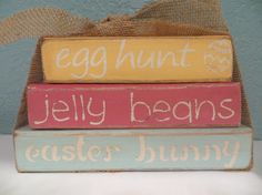 Ready to Ship Vintage Happy Easter Wood by DaisyBlossomCreation, $13.99