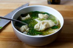Chicken Wonton Soup - Smitten Kitchen The happiest mash-up of two already excellent things, all quick and weeknight-friendly in time for cold season. Asian Recipes, New Recipes, Soup Recipes, Vegetarian Recipes, Dinner Recipes, Cooking Recipes, Healthy Recipes, Ethnic Recipes, Asian Foods