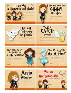 22 Harry Potter Valentine's Day Cards — They Are Wand-erfully Punny! 22 Harry Potter Valentine's Day Cards — They Are Wand-erfully Punny! Harry Potter Valentines Cards, Harry Potter Cards, Harry Potter Diy, Harry Potter Fiesta, Harry Potter Theme, Harry Potter Birthday, Teacher Valentine, Valentines For Kids, Valentine Day Cards