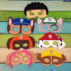 Paw Patrol Mask Characters by MommaCricketz on Etsy https://www.etsy.com/listing/195978993/paw-patrol-mask-characters
