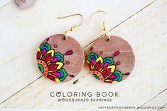 Colorful Wood Burned Earrings Tutorial ~ The Beading Gem's Journal