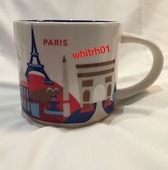 Starbucks Paris YAH Mug France Eiffel Tower Arc Triomphe Coffee Cup You Are Here