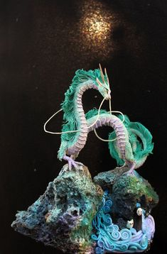 Haku Dragon Miyazaki Spirited Away Ghibli figurine fanart fantasy art sculpture handmade buy Haku Dragon Miyazaki Spirited Away Ghibli by DemiurgusDreams Clay Dragon, Dragon Art, Fantasy Kunst, Fantasy Art, 3d Zeichenstift, Miyazaki Spirited Away, Hayao Miyazaki, The Animals, Dragons