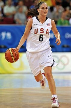 Sue Bird during the Beijing Olympics.