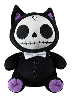 This gorgeous Black Mao-Mao Cat Furry Bones Soft Plush Doll has the finest details and highest quality you will find anywhere. The Black Mao-Mao Cat Furry Bones Soft Plush Doll is truly remarkable. Product is crafted with: Polyester. Cute Skeleton, Skeleton Bones, Stuffed Animal Cat, Stuffed Animals, Cat Character, Gothic Dolls, Voodoo Dolls, Creepy Cute, Bears