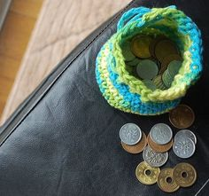 Cute & fast to do. Spare change money bag. I need to do this because i have so much change laying around!
