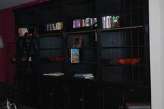 4 meter boekenkast met ladder van meubels en meer, leverbaar in alle kleuren.  diverse afmetingen. www.meubelsenmeer.nl
