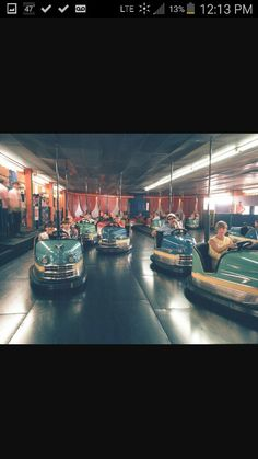 Old bumper cars dorney park