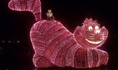 Cheshire Cat float at Tokyo Disneyland Main Street Electric Parade