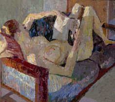 Brian Chu, Reading, 2008. (Yes I'm aware she is naked. The human body is meant to be beautiful ; a work of art in itself.)