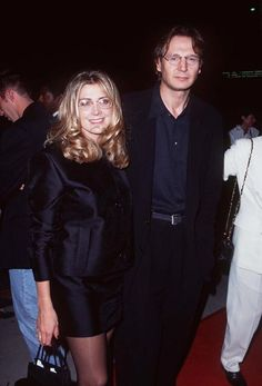 Liam Neeson and Natasha Richardson at event of Michael Collins