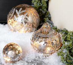 Etched Mercury Glass Ornament contemporary-holiday-decorations