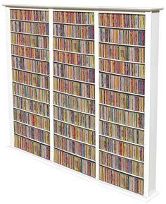 The COLOSSUS Media Storage Floor Rack In White Finish Venture Horizon  2413 11WH