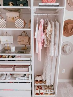 Rich Girl Bedroom, Girls Bedroom, Bedrooms, Room Design Bedroom, Bedroom Decor, Decor Interior Design, Interior Decorating, Walk In Closet, Closet Space