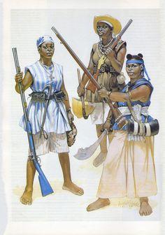 Angus McBride - Mujeres guerreras africanas
