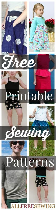 20 Free Printable Sewing Patterns