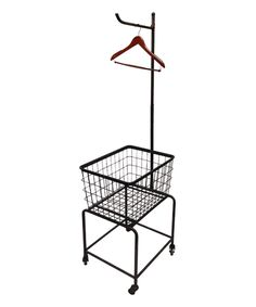 metal laundry cart on wheels by