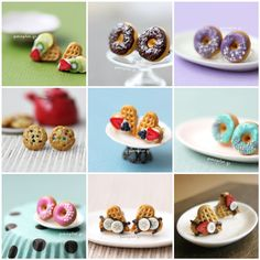 https://flic.kr/p/bDFrzJ | Miniature Food Studs / Post Earrings | All handmade by myself out of polymer clay. Minifood makes me happy :)