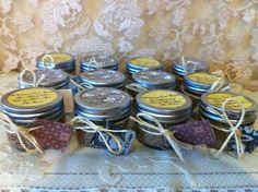 WEDDING SHOWER FAVORS. 25 Organic Sugar Body Scrubs in 4 oz. Glass Mason Jars wrapped w burlap and twine. Burlap and Lace Bridal. RusticChicBodyShop via Etsy.