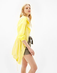 Relaxed nylon jacket - Special Prices - Bershka United States