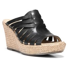 637bc36ea4bc Naturalizer Noely Women W Open Toe Leather Wedge Sandal    Special product  just for you