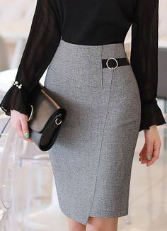 How to wear fall fashion outfits with casual style trends Mode Outfits, Skirt Outfits, Korean Outfits, Office Outfits, Office Fashion, Work Fashion, 90s Fashion, Casual Mode, Professional Attire