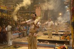 The Ganga Aarati by Sirish B C on 500px