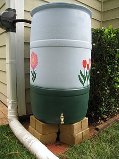 """Find out more info on """"rainwater harvesting system"""". Have a look at our internet site. Barrel Garden Ideas, Rainwater Harvesting System, Diy Garden Bed, Homestead Gardens, Garden Whimsy, Water Storage, Growing Herbs, Save Water, Water Tank"""